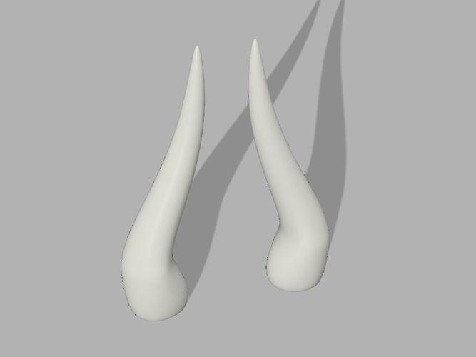horns for cosplay 3d model stl 1