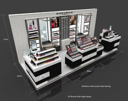 cosmetic kiosk design 3D architectural