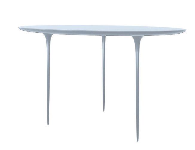 simple modern fluid liquid desk table 3 legs