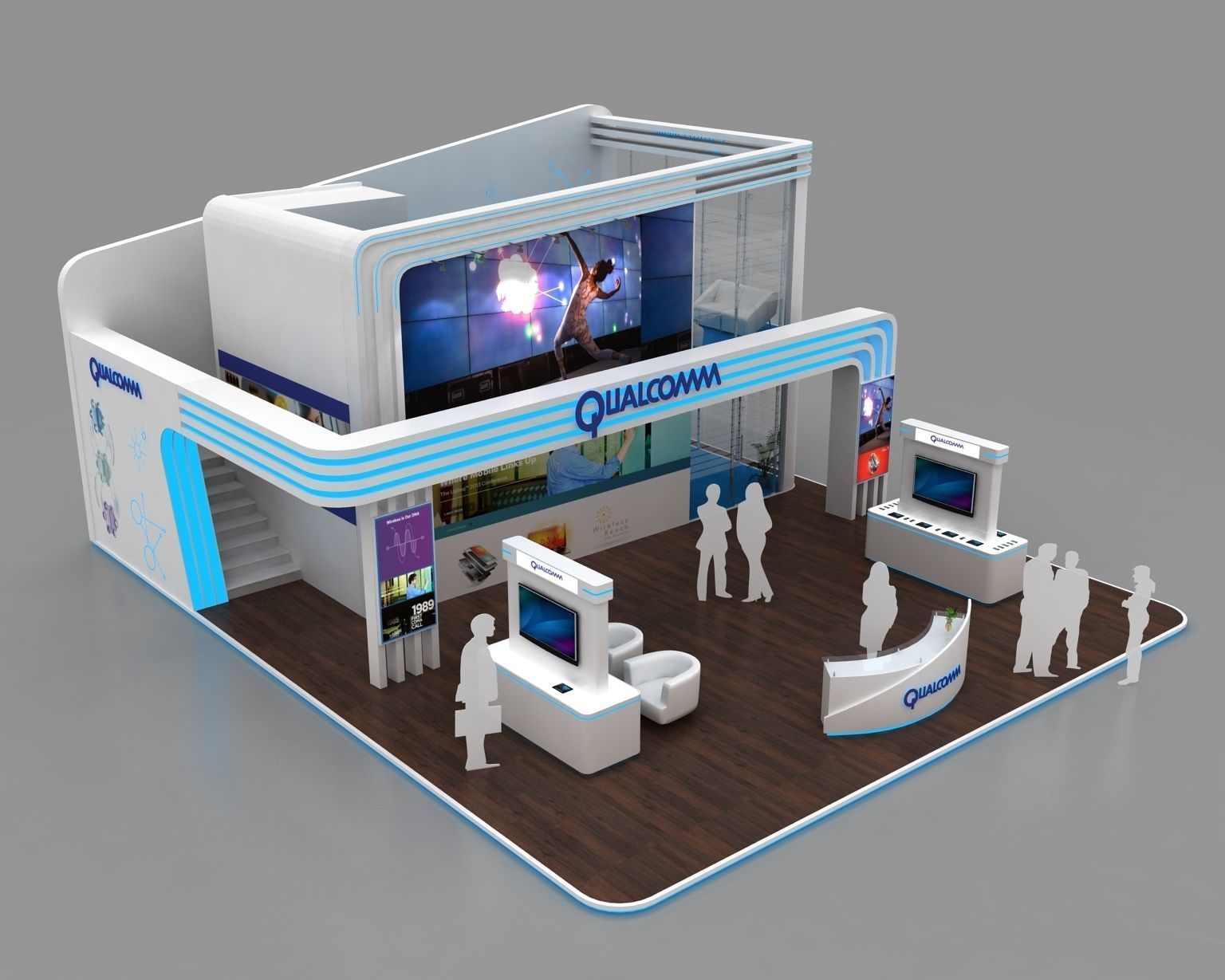3d Exhibition Booth Design : Meter exhibition booth design d model max bip