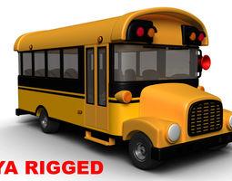 Cartoon School bus 3D asset