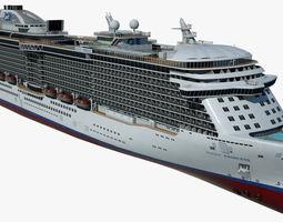Cruise Ship Majestic Princess 3D