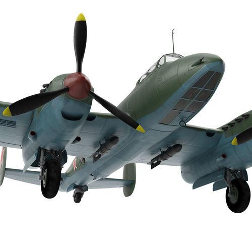 petlyakov pe-2 3d model max obj mtl fbx 1