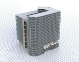 3D asset City Building Bank