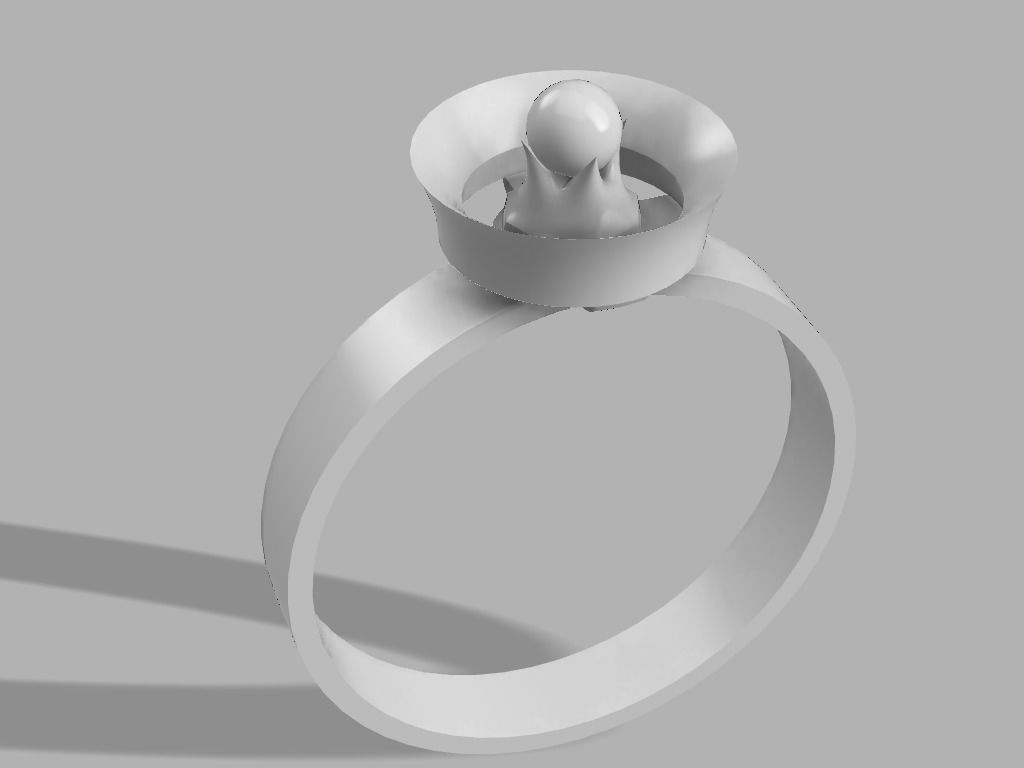 Thorn Pearl Ring