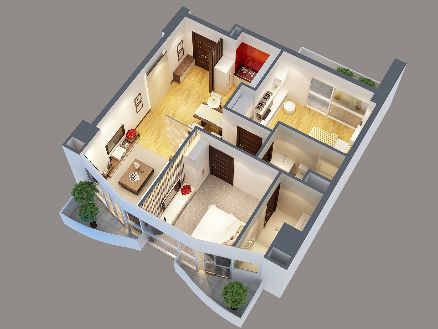 3d model modern interior apartment 3d model max obj mtl for Apartment 3d model
