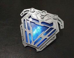 3D Print Model Nanotech Iron Man New Arc Reactor From 1
