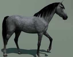 Animated Horse 10 colours 3D model nature