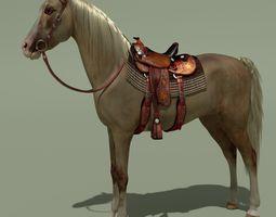 Cowboy Horse Palomino 3D