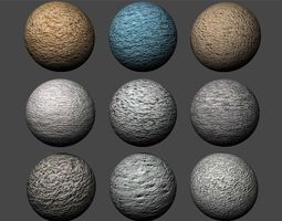 Stucco Textures Pack 1 3D model