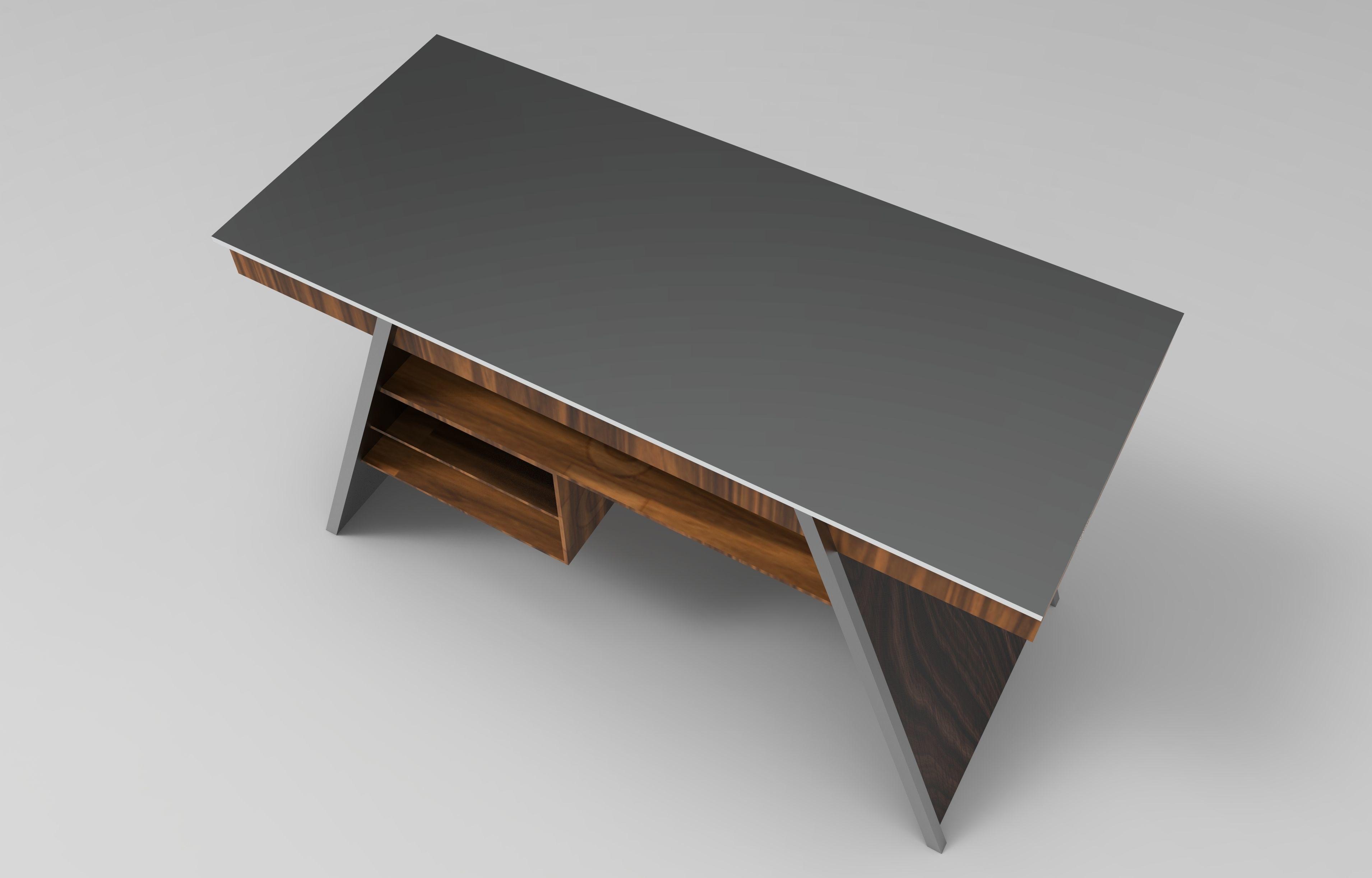 ... designer work desk 3d model iam ipt 3 ... & bench 3D model Designer Work Desk   CGTrader