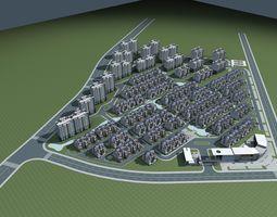 district Architecture 3D model