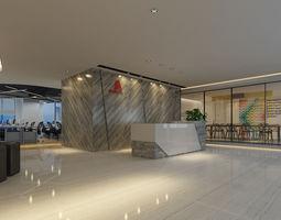 3D Detailed Office Interior Scene