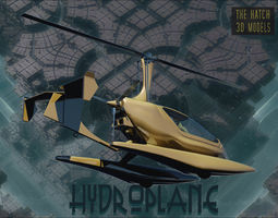 Hydroplane 3D asset realtime