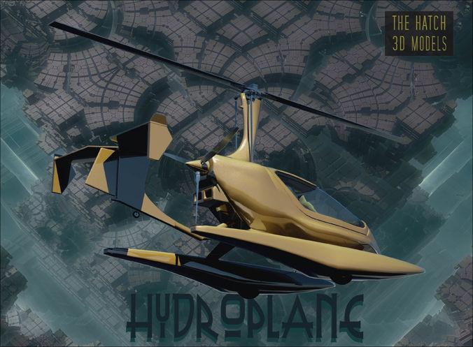 hydroplane 3d model obj mtl 3ds 1