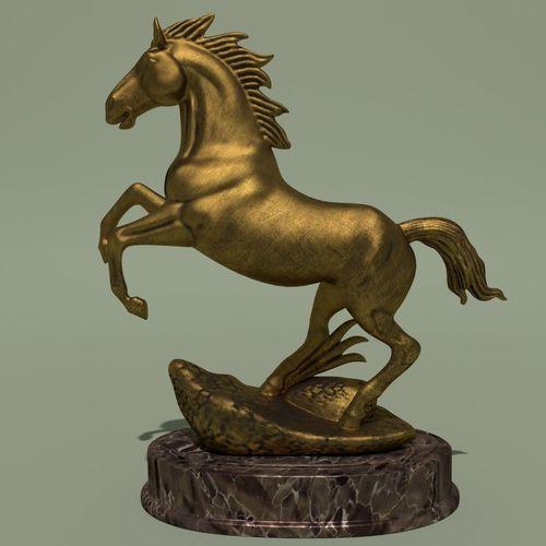horse statuette 2g 3d model max obj mtl 3ds ma mb blend 1