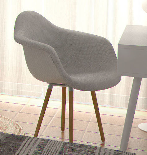 chair eames daw upholstery 3d cgtrader