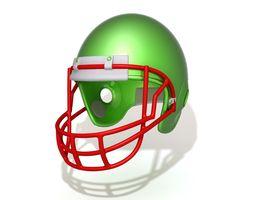 3D American Football Helmet