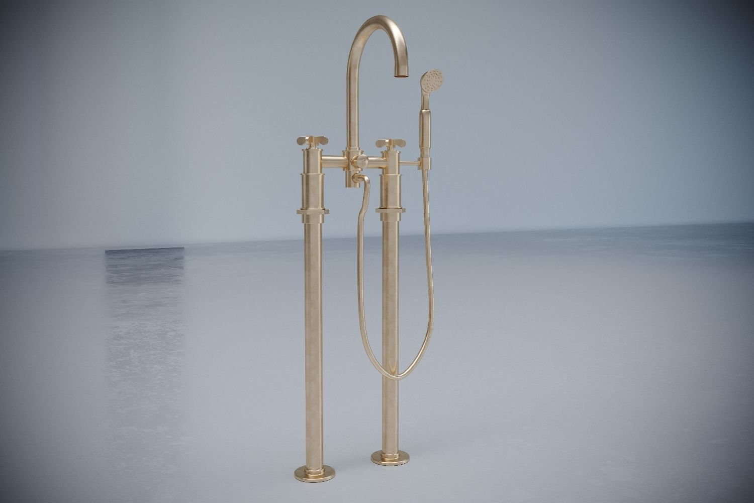 3D model waterworks tub filler Henry | CGTrader