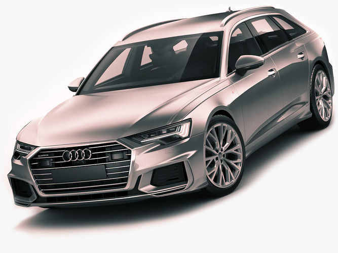 audi a6 avant 2019 s line 3d cgtrader. Black Bedroom Furniture Sets. Home Design Ideas