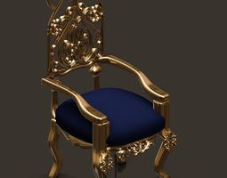 chair 3D model classic