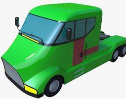 3D model Futuristic semi truck