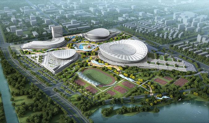 sports stadium 001 3d model max 1