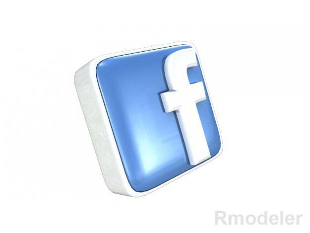 facebook letter 3d logo cgtrader