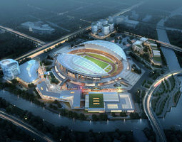 3d model sports stadium 002