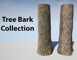 3D model Tree Bark Collection