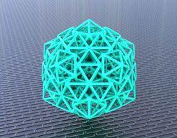 bro woven icosahdron 3d printable model
