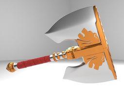 3D weapon battle axe