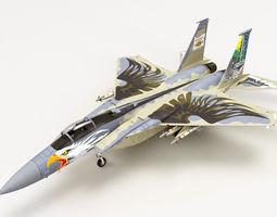3D McDonnell Douglas F-15C Eagle Oregon Ang 75th