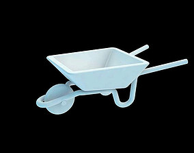 Miniature 3D PRINT Ready Wheelbarrow