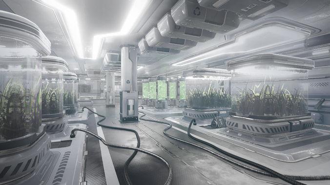 sci-fi facility 3d model unitypackage prefab 1
