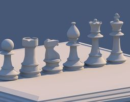 Chess Set 3D asset