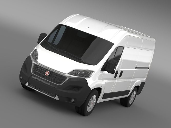 fiat ducato van l2h2 2015 3d cgtrader. Black Bedroom Furniture Sets. Home Design Ideas