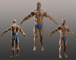 male bodybuilder a 3d