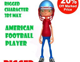 American football player 3D