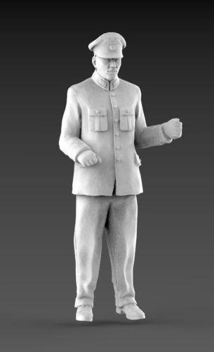man controller conductor  3d model 3d model max obj mtl fbx stl 1