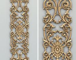 Carved decor vertical 014 3D model
