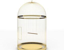 Golden bird cage 3D