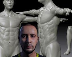 3d model realistic man realtime