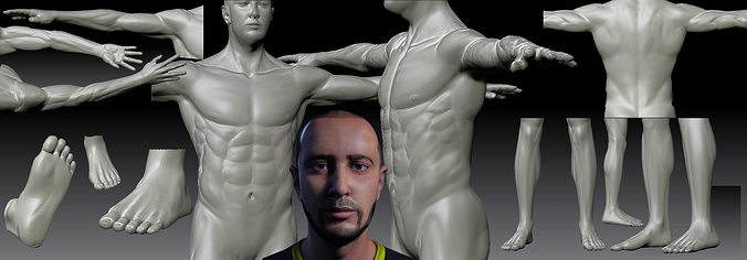 realistic man 3d model low-poly fbx ma mb 1
