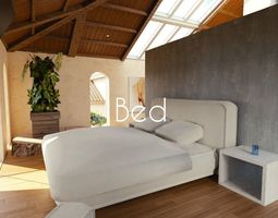 3D model VR / AR ready Luxury Bed