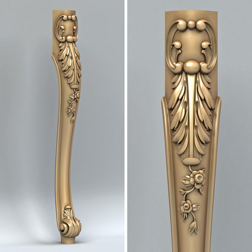 furniture leg 014 3d model max obj fbx stl 1