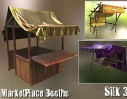 3d model PBR realtime marketplace booths - silk3