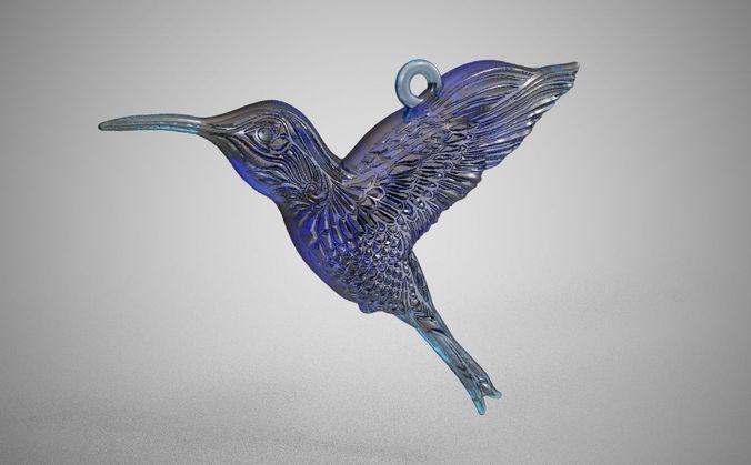 bird necklace  3d model obj mtl stl 1
