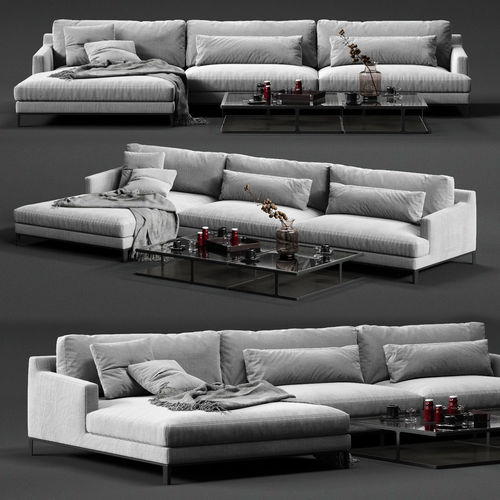 poliform bellport corner sofa 3d model max obj mtl fbx 1