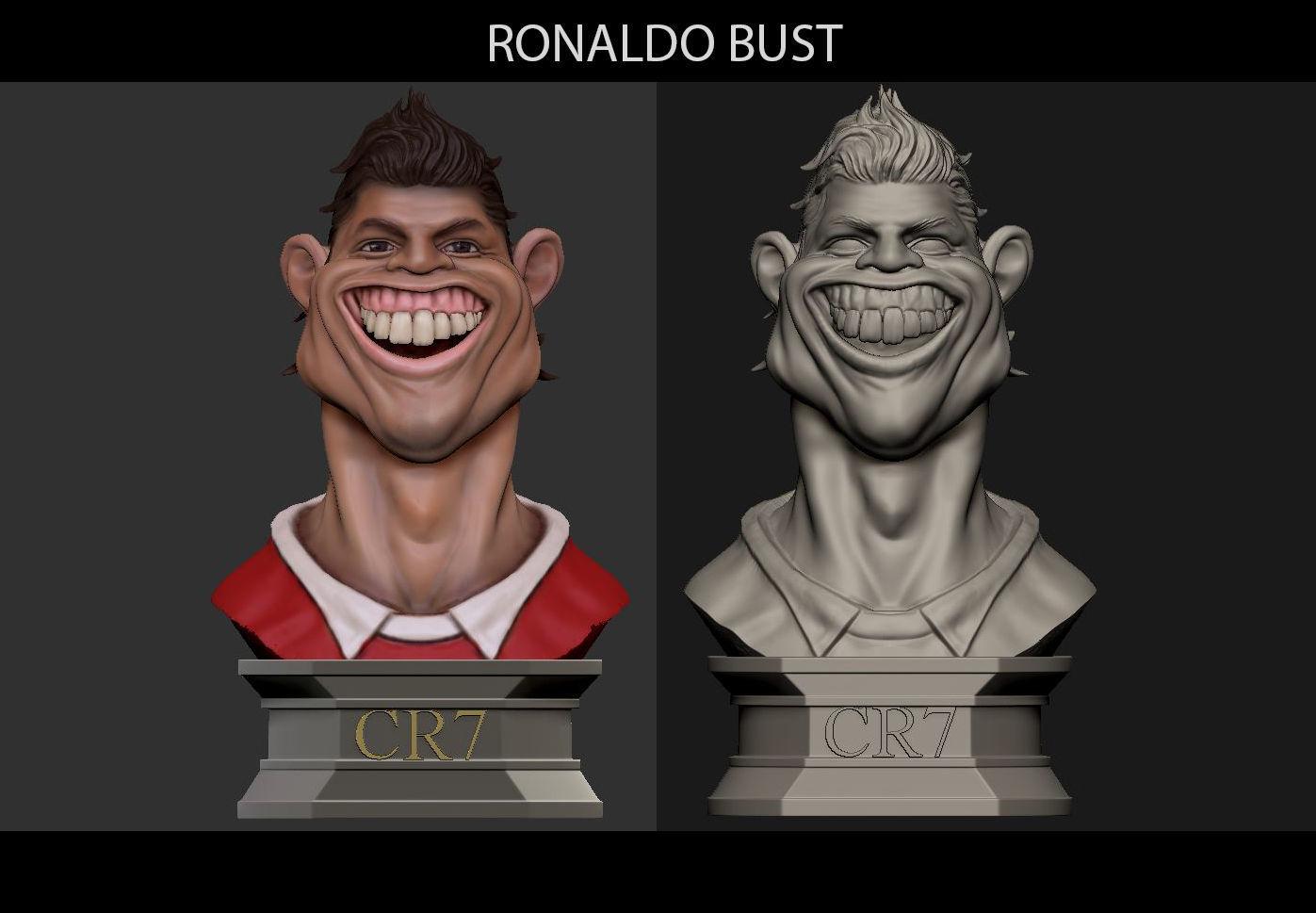Ronaldo Football scupltures - Padory